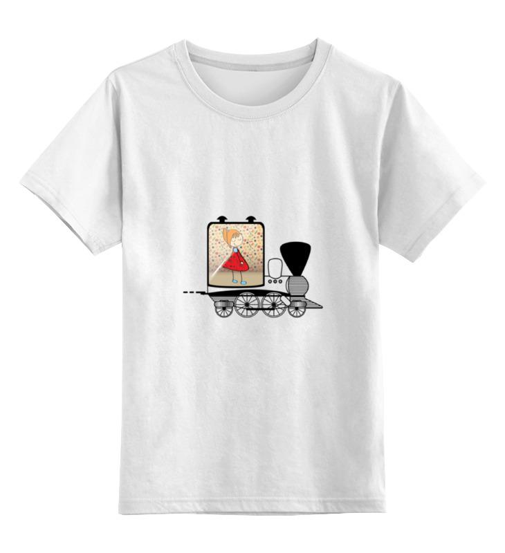 Детская футболка классическая унисекс Printio Классная девчонка в поезде сумка printio классная девчонка в поезде