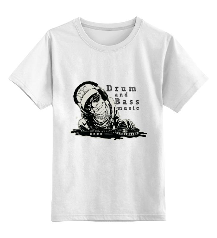 Детская футболка классическая унисекс Printio Drun and bass w 1more super bass headphones black and red