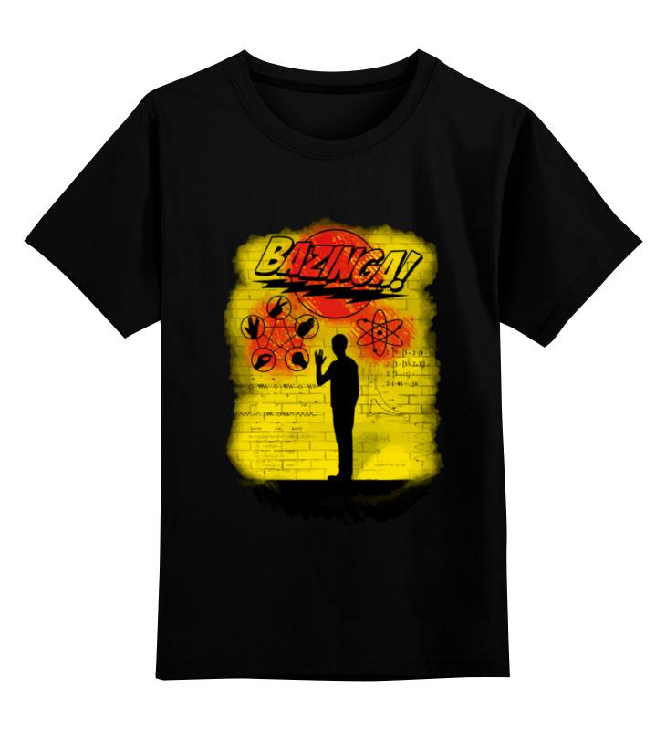 Детская футболка классическая унисекс Printio Sheldon bazinga футболка wearcraft premium printio sheldon bazinga