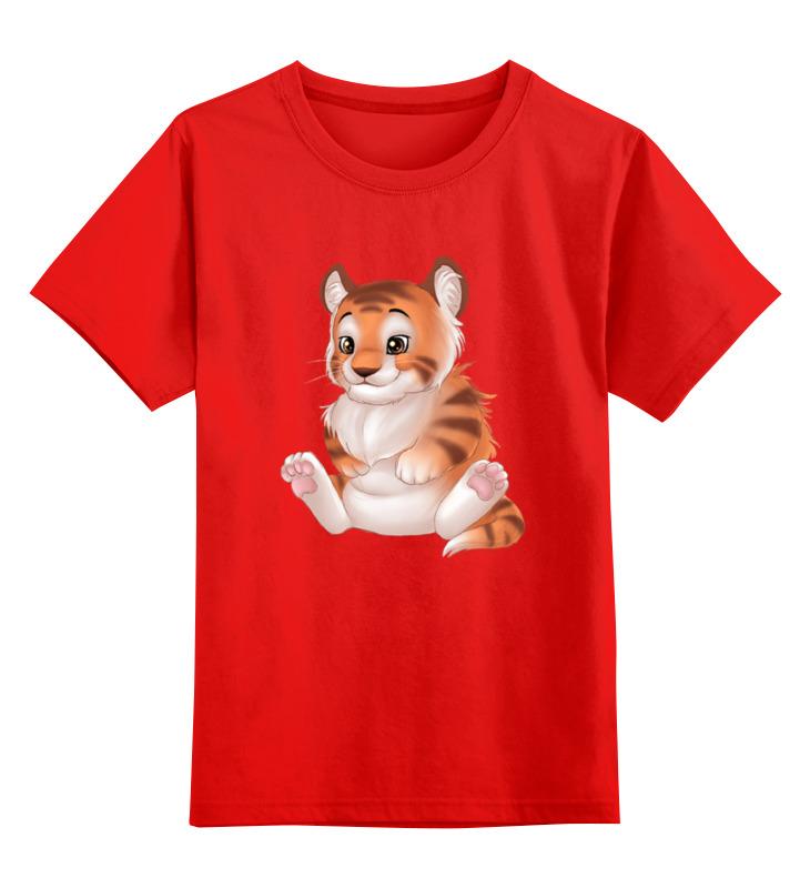 Детская футболка классическая унисекс Printio Тигрёнок smoby детская горка king size цвет красный