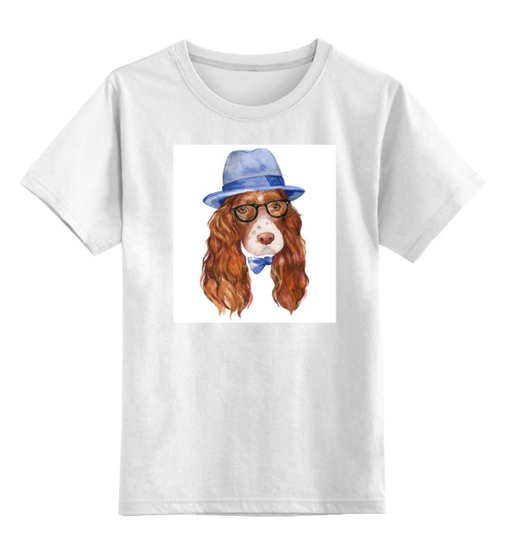 Детская футболка классическая унисекс Printio Собака хипстер футболка классическая printio акварельная новогодняя забавная собака