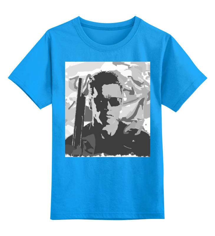 Детская футболка классическая унисекс Printio Терминатор камуфляж