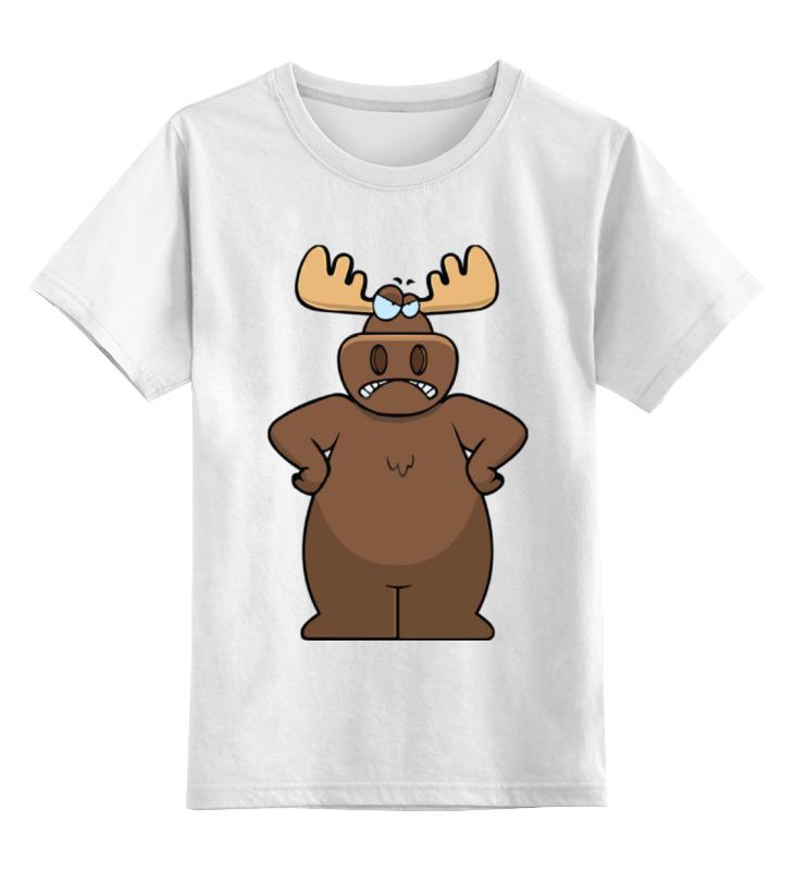 Детская футболка классическая унисекс Printio Злой лось блокнот printio новогодний лось