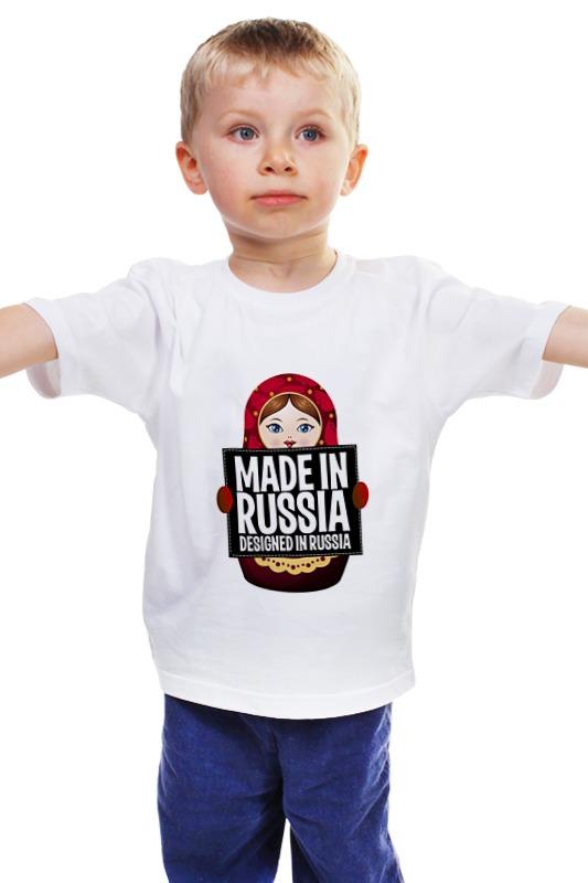Детская футболка классическая унисекс Printio Made in russia by hearts of russia voluntary associations in tsarist russia – science patriotism and civil society