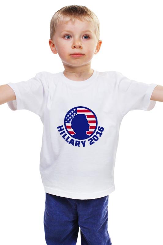 Детская футболка классическая унисекс Printio Hillary 2016