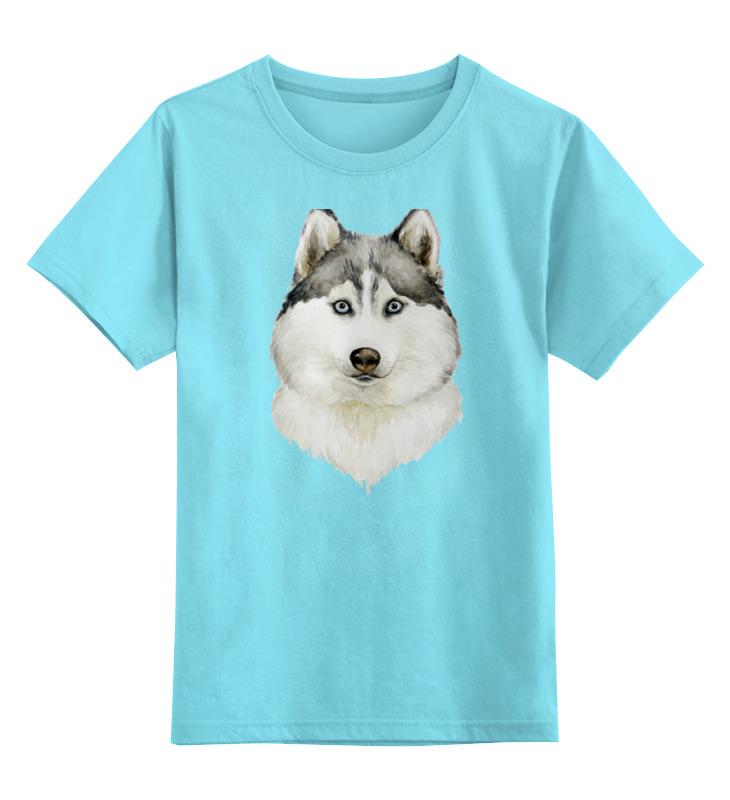 Детская футболка классическая унисекс Printio Хаски