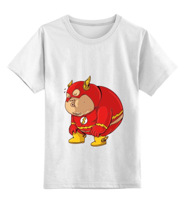 Детская футболка классическая унисекс Printio Fat flash детская футболка классическая унисекс printio быстрый и мёртвый