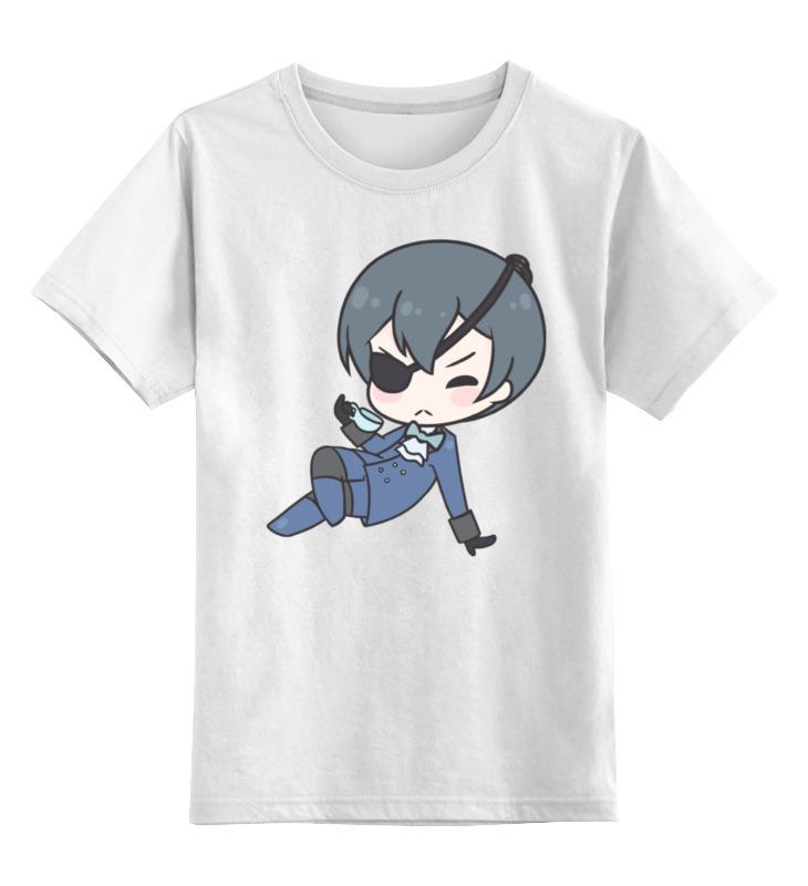 Детская футболка классическая унисекс Printio Black butler anime black butler pu white short zero wallet cp ciel