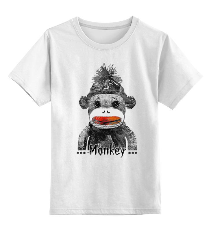 Детская футболка классическая унисекс Printio Monkey 2016 - обезьянка 2016 детская футболка классическая унисекс printio hamlet monkey