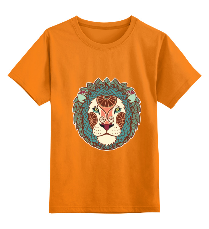 Детская футболка классическая унисекс Printio Гламурный лев цена 2017