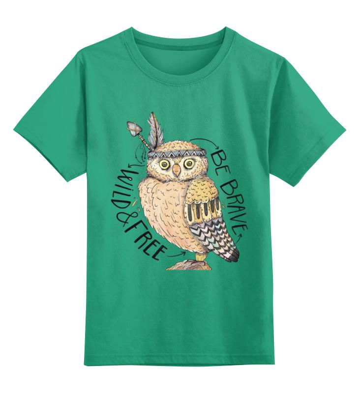 Детская футболка классическая унисекс Printio Этническая сова