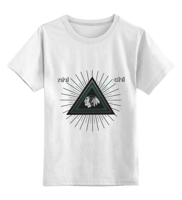 Детская футболка классическая унисекс Printio Чикаго блэкхокс