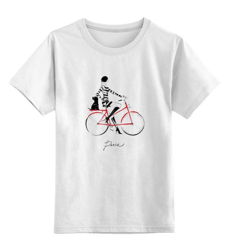 Детская футболка классическая унисекс Printio Девушка в париже детская футболка классическая унисекс printio сексуальная девушка в молоке
