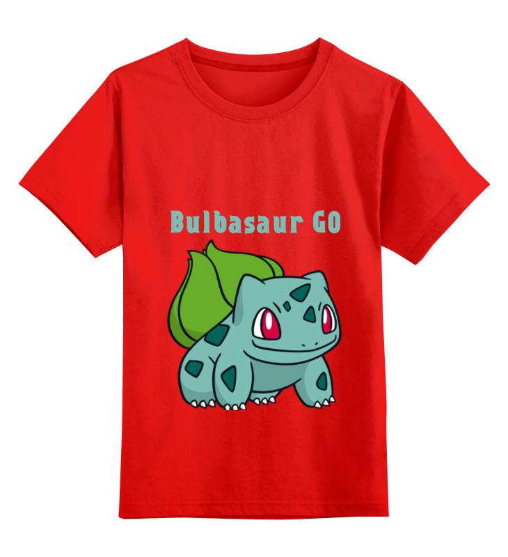 Детская футболка классическая унисекс Printio Pokemon bulbasaur