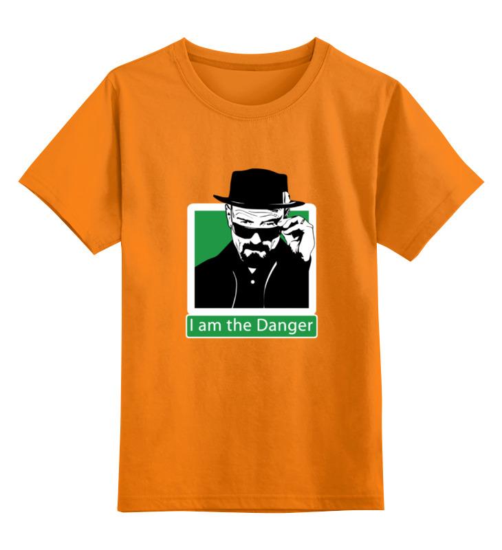 Детская футболка классическая унисекс Printio I am the danger (breaking bad) футболка классическая printio danger breaking bad
