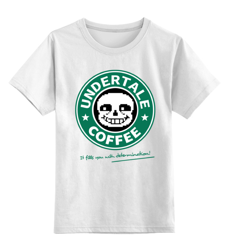 Детская футболка классическая унисекс Printio Санс кофе (undertale) детская футболка классическая унисекс printio санс