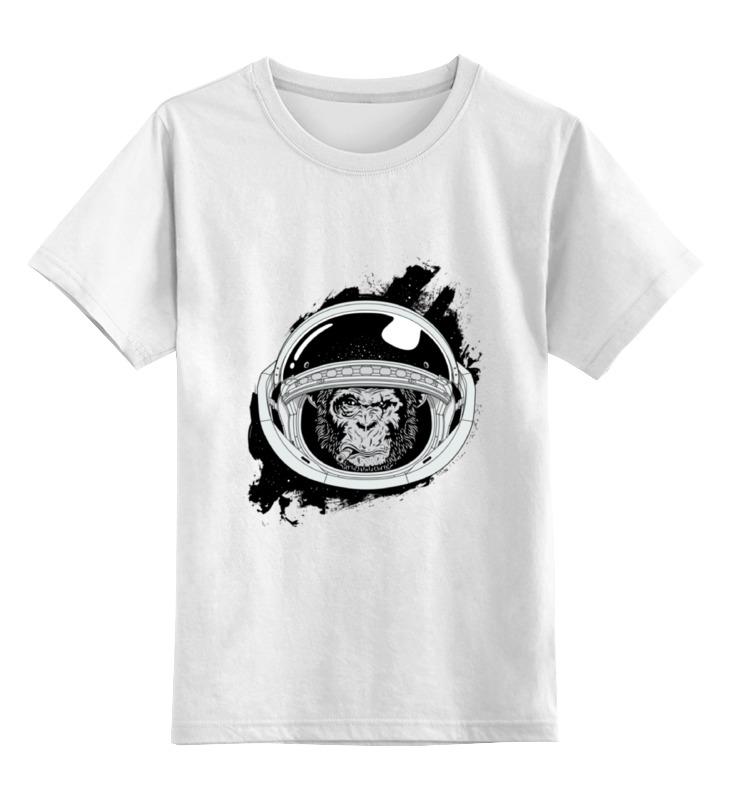 Детская футболка классическая унисекс Printio Space monkey (космическая обезьяна) детская футболка классическая унисекс printio hamlet monkey
