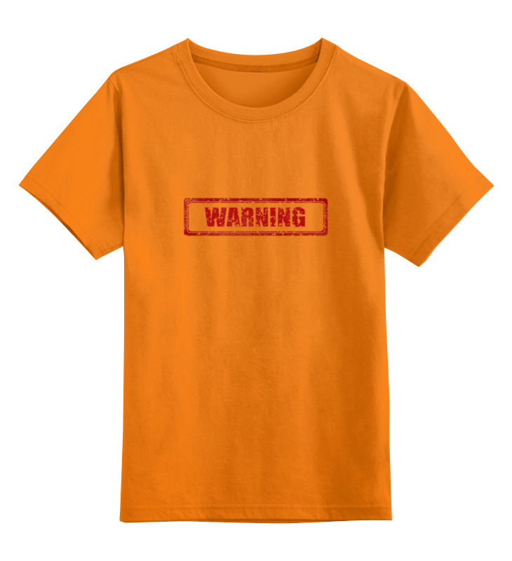 Детская футболка классическая унисекс Printio Warning