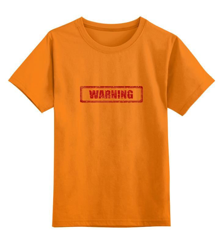 Детская футболка классическая унисекс Printio Warning rhythm rhythm cmj545nr06