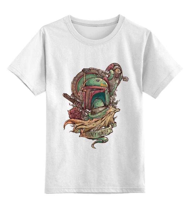 Детская футболка классическая унисекс Printio Боба фетт - охотник за головами фляга кожаная экспедиция лучший охотник цвет коричневый
