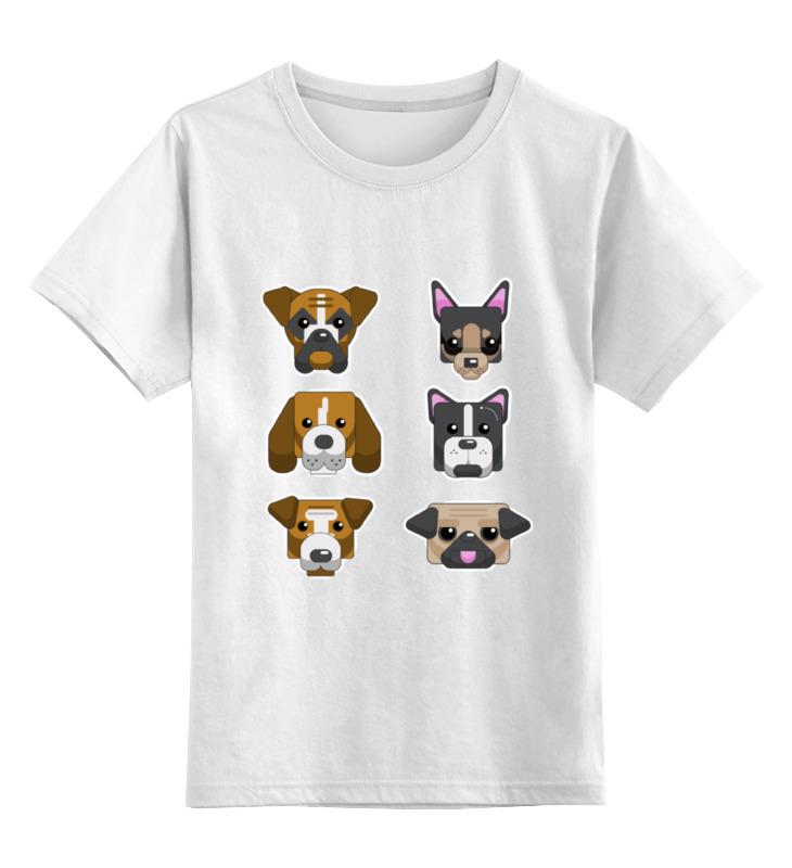 Детская футболка классическая унисекс Printio Собаки