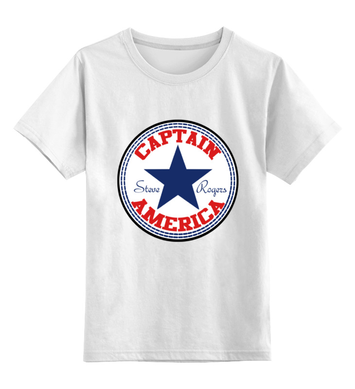 Детская футболка классическая унисекс Printio Капитан америка