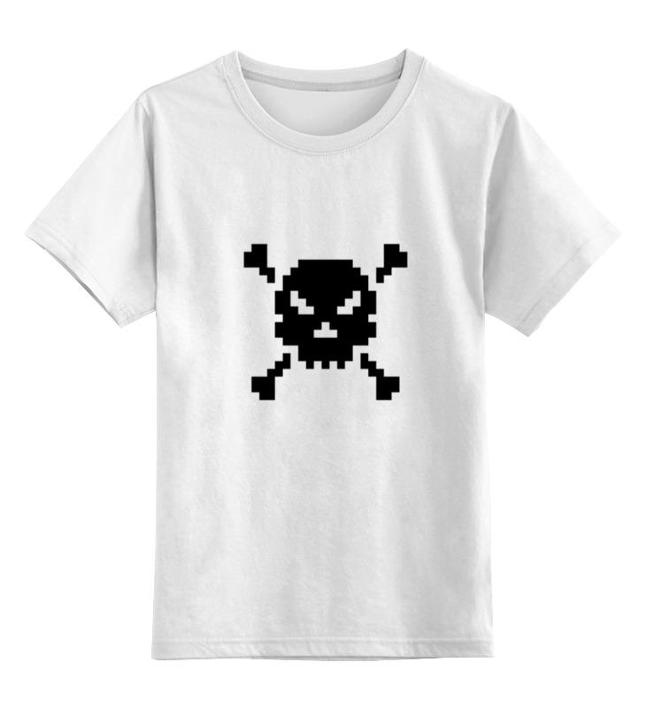 Детская футболка классическая унисекс Printio Pixel art skull детская футболка классическая унисекс printio skull art