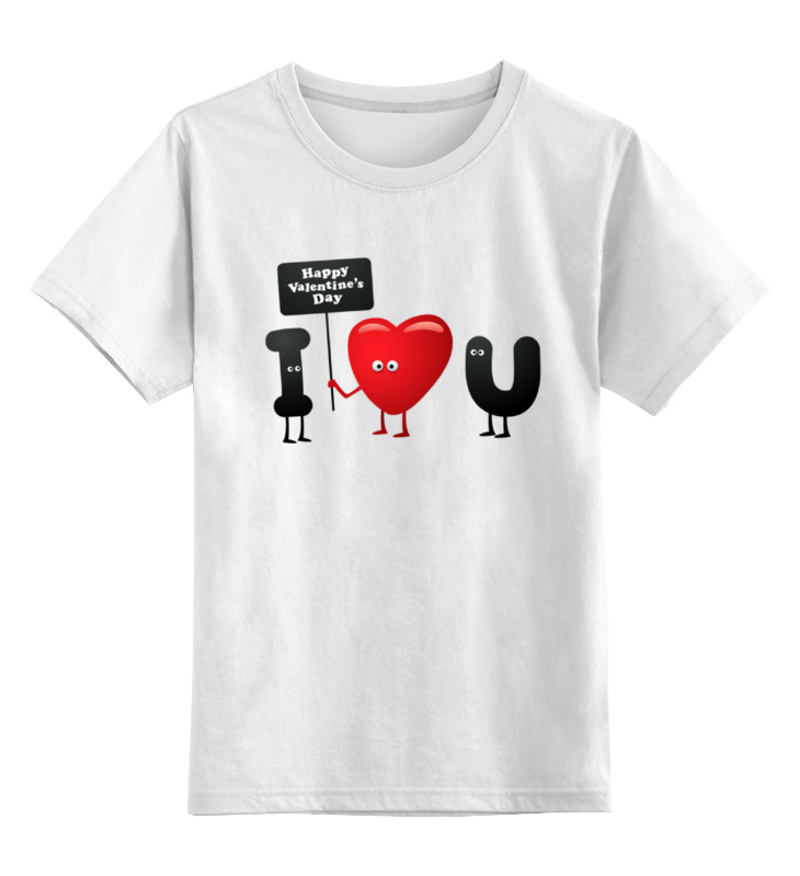 Детская футболка классическая унисекс Printio Я люблю тебя! цена и фото