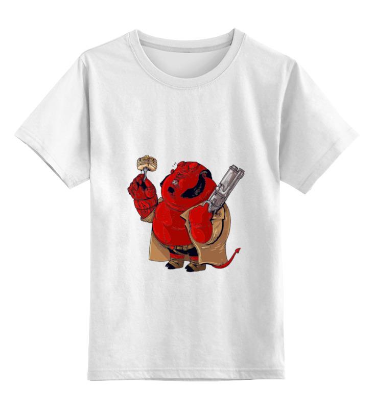 Детская футболка классическая унисекс Printio Fat hellboy hellboy giant right hand anung un rama right hand of doom arms hellboy animated cosplay weapon resin collectible model toy w257