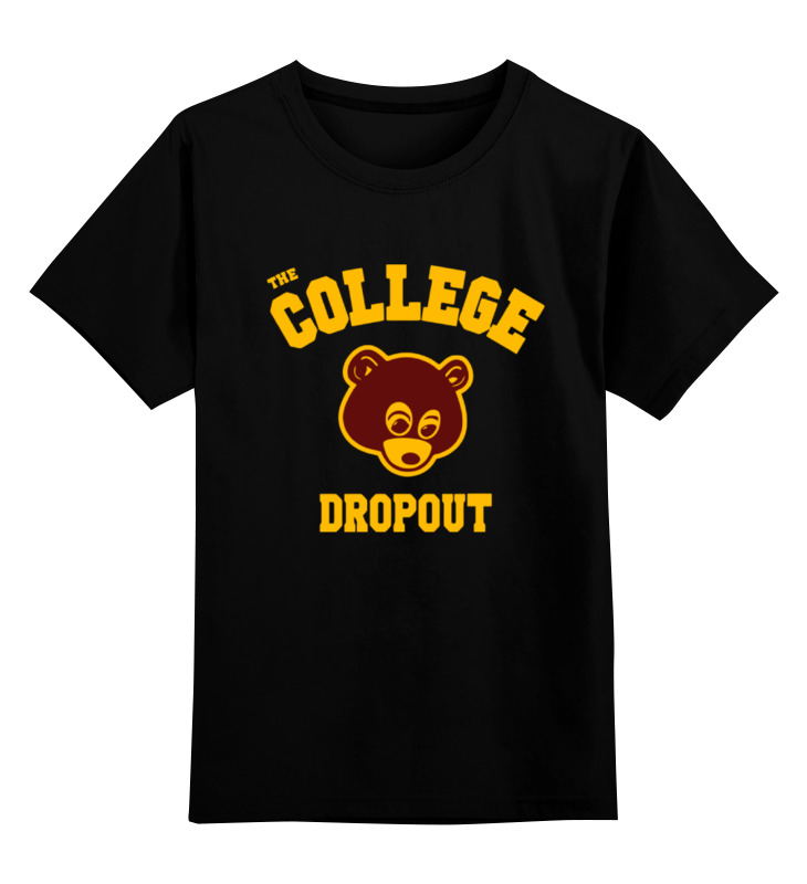 Детская футболка классическая унисекс Printio The college dropout the causal factors of dropout among the socio economically backward