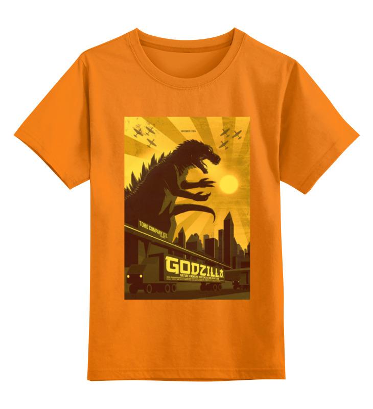 Детская футболка классическая унисекс Printio Godzilla yellow