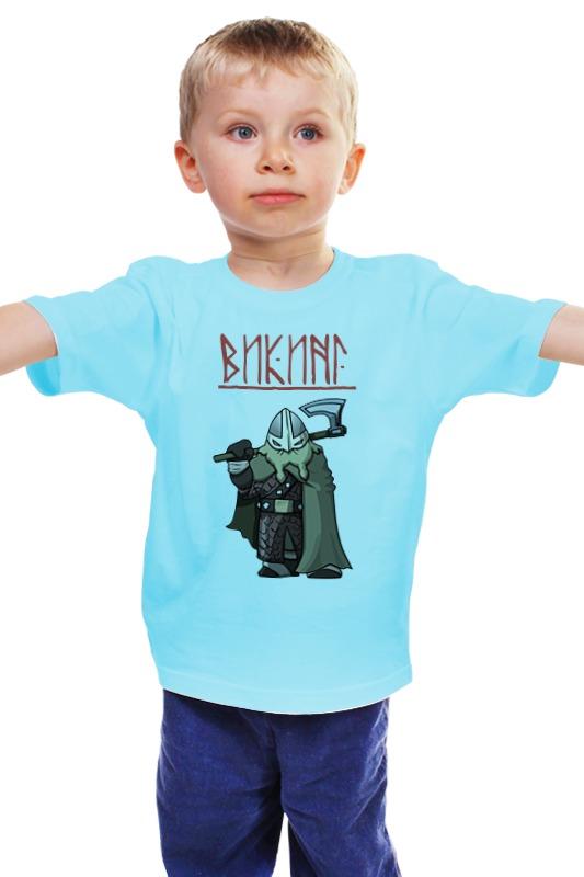 Детская футболка классическая унисекс Printio Веселый викинг