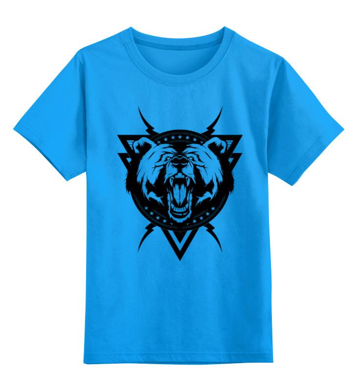 Детская футболка классическая унисекс Printio Злой медведь