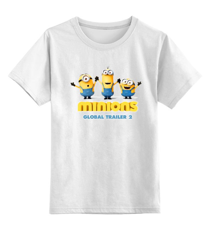 Детская футболка классическая унисекс Printio Minions  global trailer 2 детская футболка классическая унисекс printio saints row 2 blak