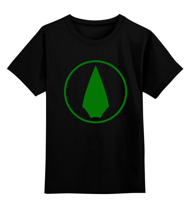 Детская футболка классическая унисекс Printio Зеленая стрела