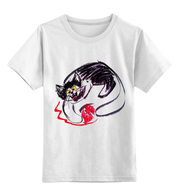 Детская футболка классическая унисекс Printio Кот caprediem цена и фото