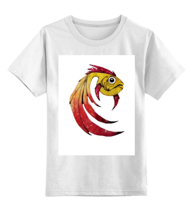 Детская футболка классическая унисекс Printio Золотая рыбка