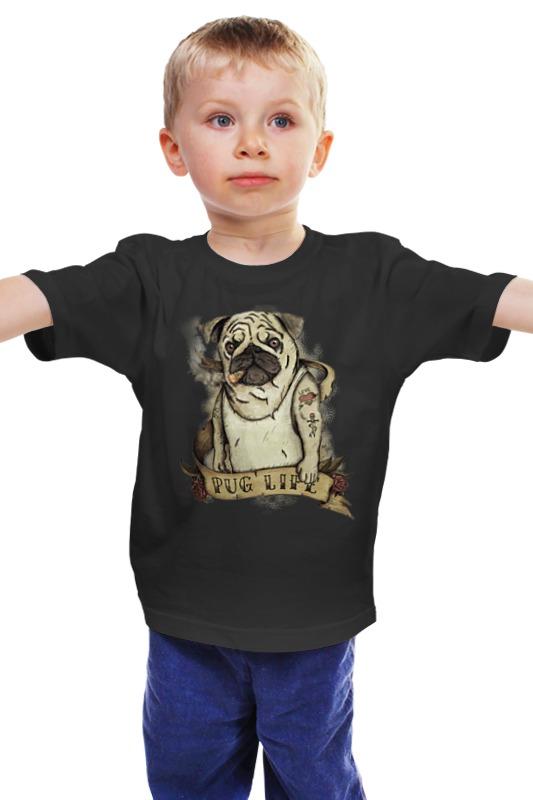 Детская футболка классическая унисекс Printio Жизнь мопса купить щенка мопса в одессе