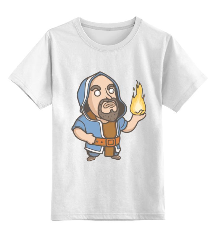 Детская футболка классическая унисекс Printio Волшебник (clash of сlans) цена