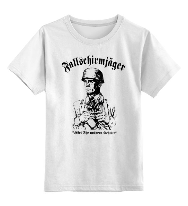 Детская футболка классическая унисекс Printio Fallschirmjager армейский десант германии 90fun армейский зеленый