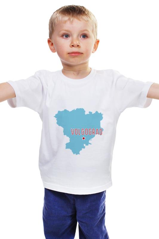 Детская футболка классическая унисекс Printio Волгоградская область. волгоград авто за 300 тысяч волгоград