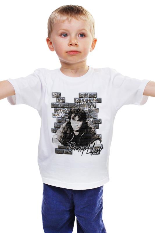 Детская футболка классическая унисекс Printio Виктор цой