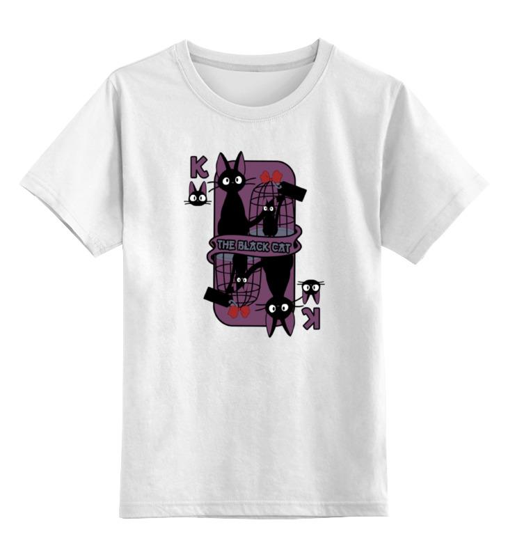 Детская футболка классическая унисекс Printio Черный кот цена