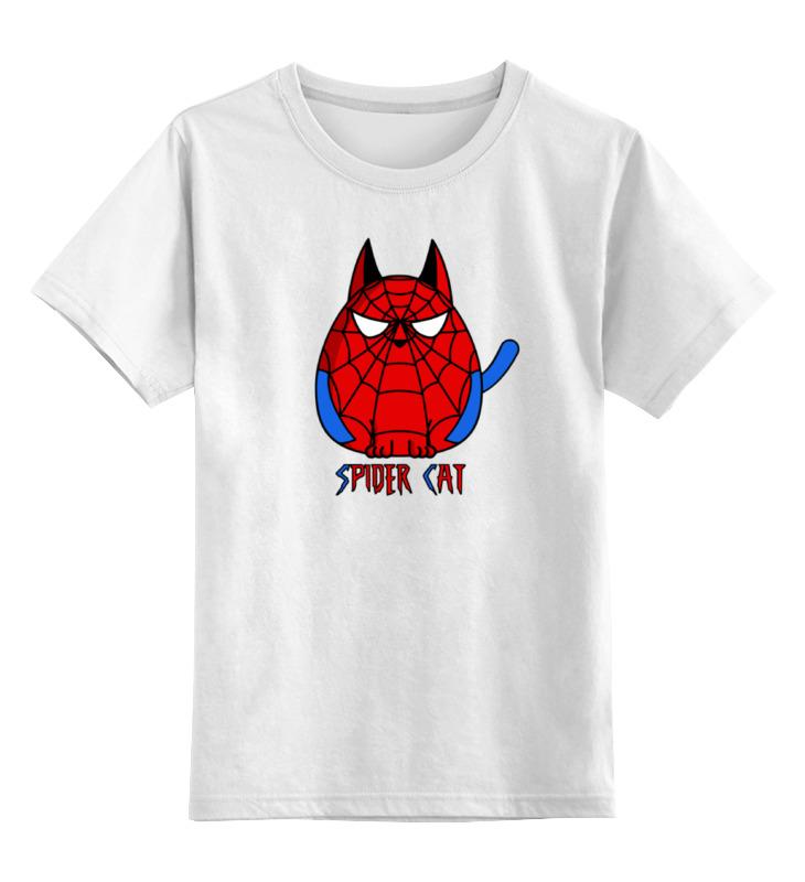 Детская футболка классическая унисекс Printio Кот паук детская футболка классическая унисекс printio абстрактный кот