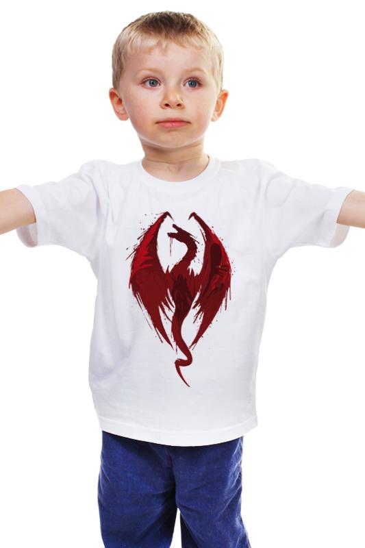 Детская футболка классическая унисекс Printio Skyrim (скайрим) купить skyrim hearthfire русская озвучка
