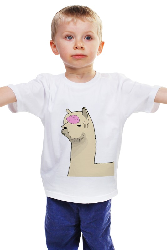 Детская футболка классическая унисекс Printio Альпака фред сумку фред перри украина