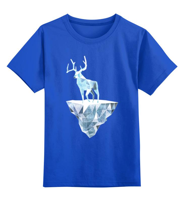 Детская футболка классическая унисекс Printio Ледяной олень и и лажечников ледяной дом