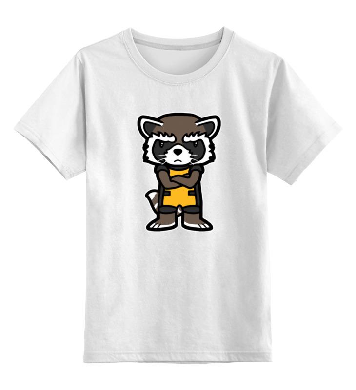Детская футболка классическая унисекс Printio Енот детская футболка классическая унисекс printio енот