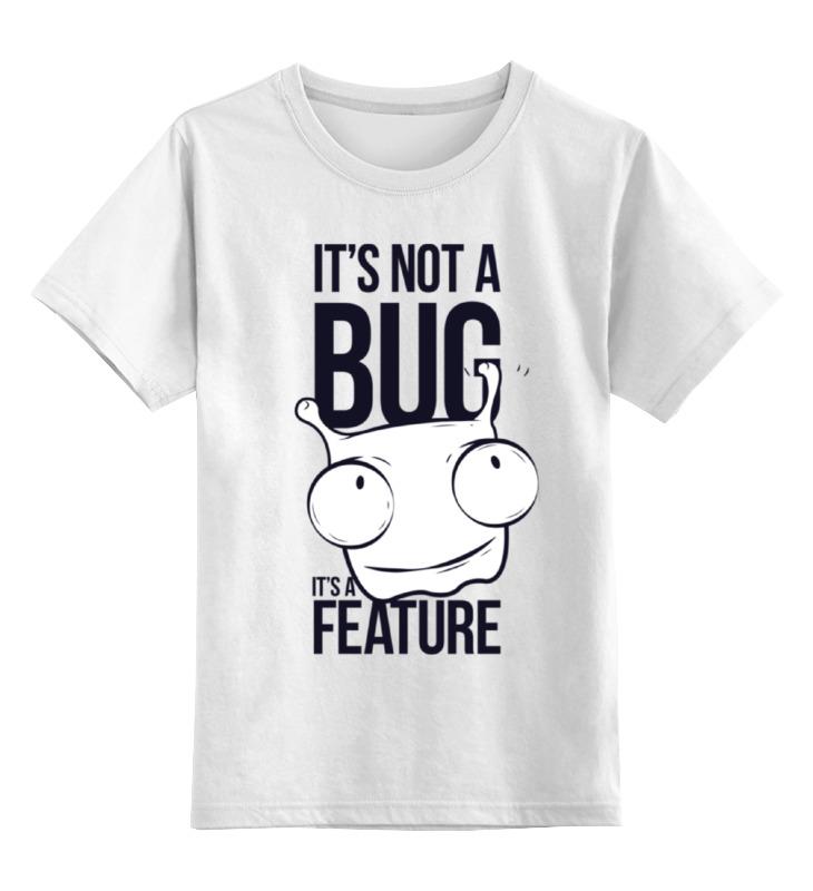 Детская футболка классическая унисекс Printio It's not a bug like bug juice on a burger