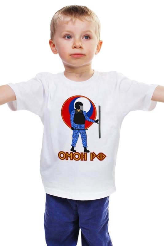 Детская футболка классическая унисекс Printio Омон рф